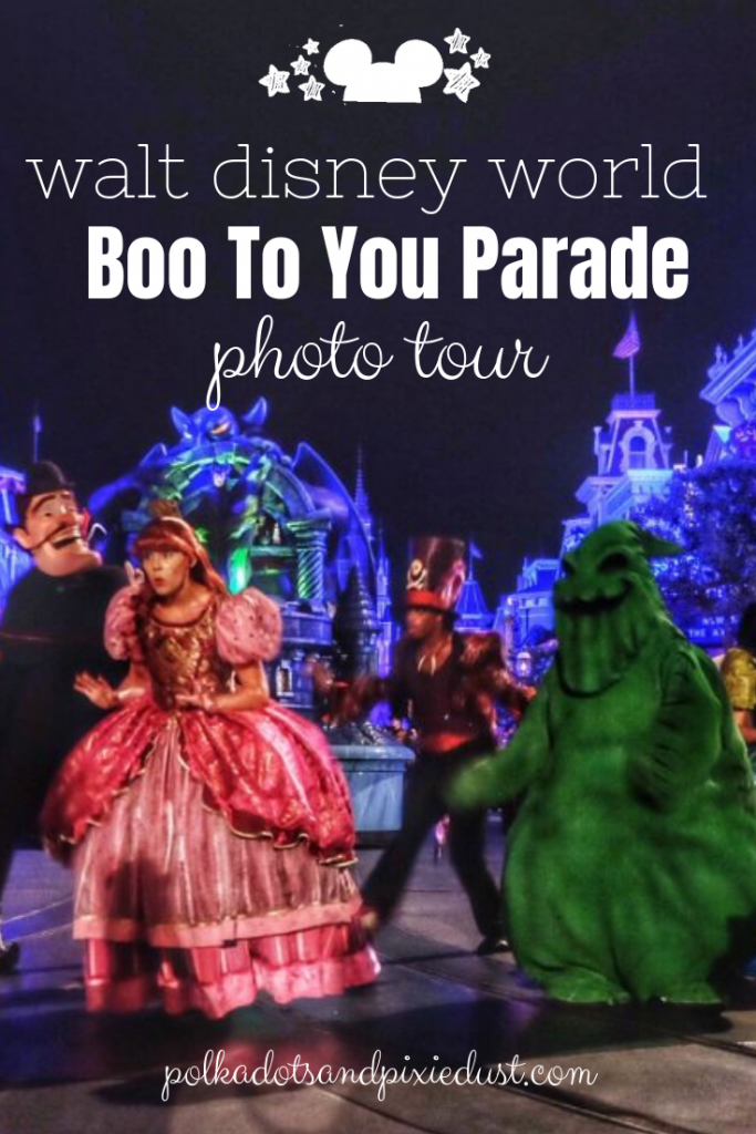 walt disney world mickey's not so scary halloween party boo to you parade photo parade #bootoyouparade #mnsshp #disneyhalloween #disneypictures #disneyparades #polkadotpixies