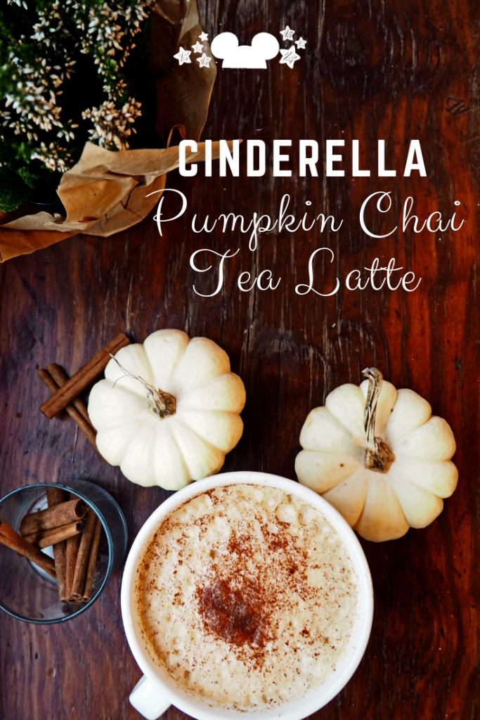 Test out this Cinderella Pumpkin Chai Tea Latte perfect for fall. #pumpkinspicechai #chaitealatte #chairecipes #cinderellarecipes