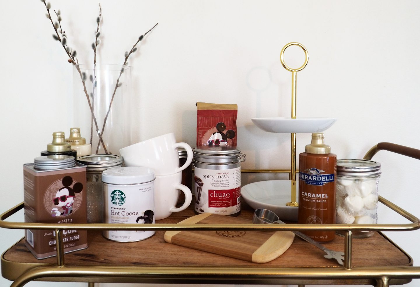 hot cocoa bar cart from target