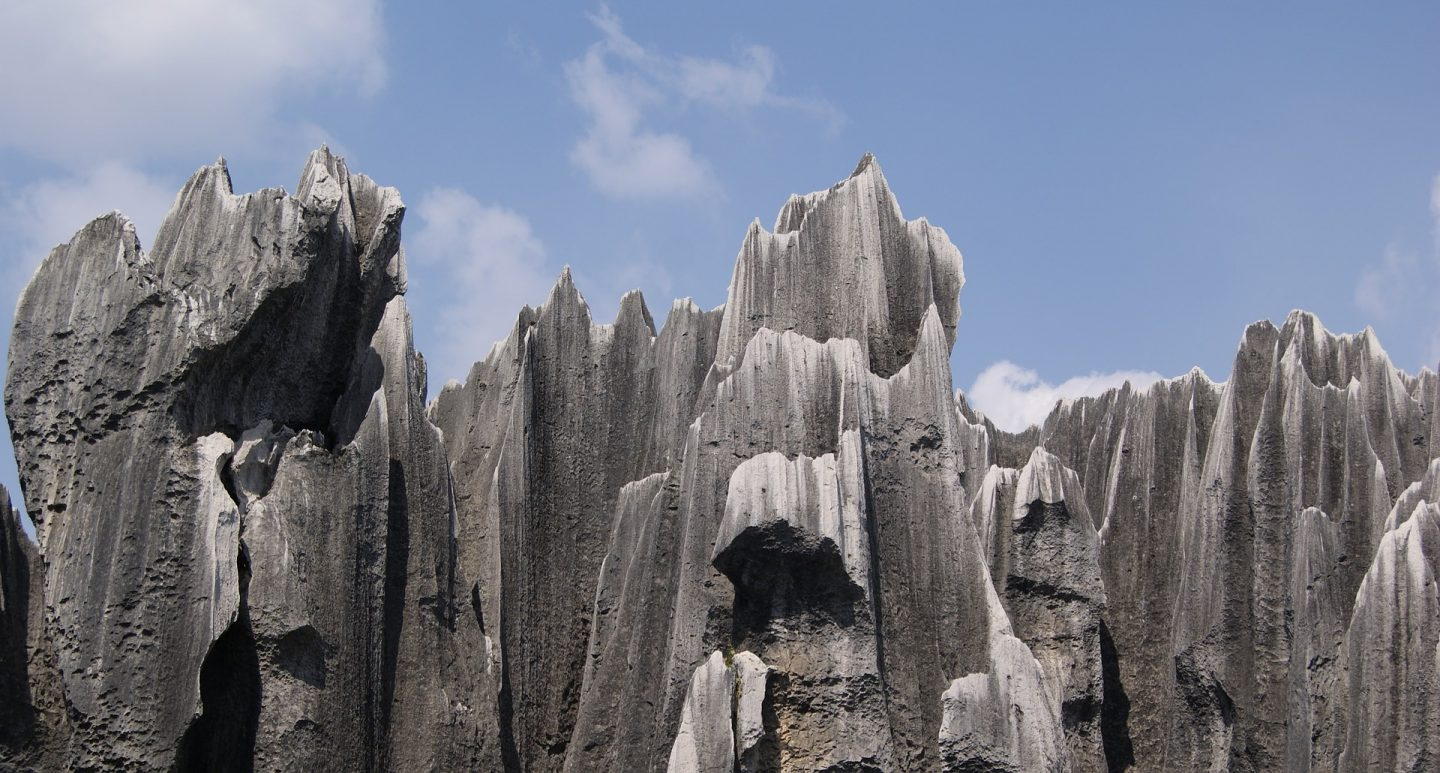 shilin stone forest in china reflections of china