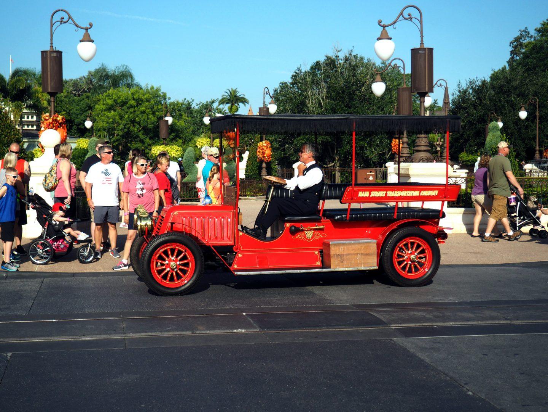 Car on Main Street at Disney World