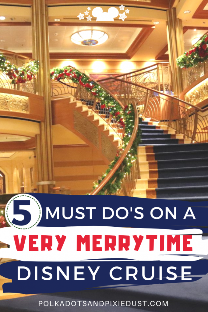 5 Must Do's on a Very Merrytime Disney Christmas Cruise! Everything we love about Christmas at Sea with Disney Cruise Line #disneycruiseline #christmascruise