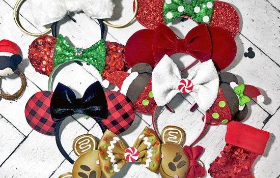 10 festive small shop Mouse Ears for the holiday season