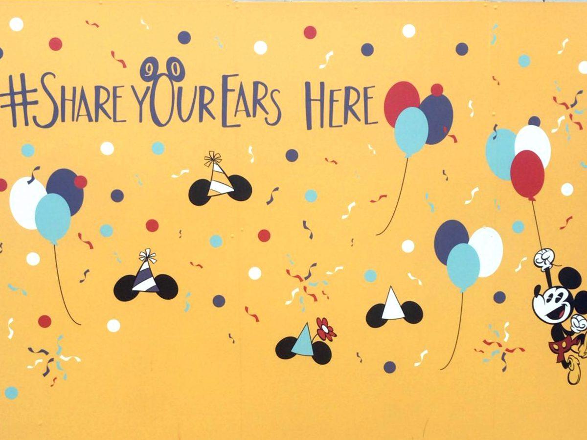Walls of Disney: #Shareyourears walls at Walt Disney World