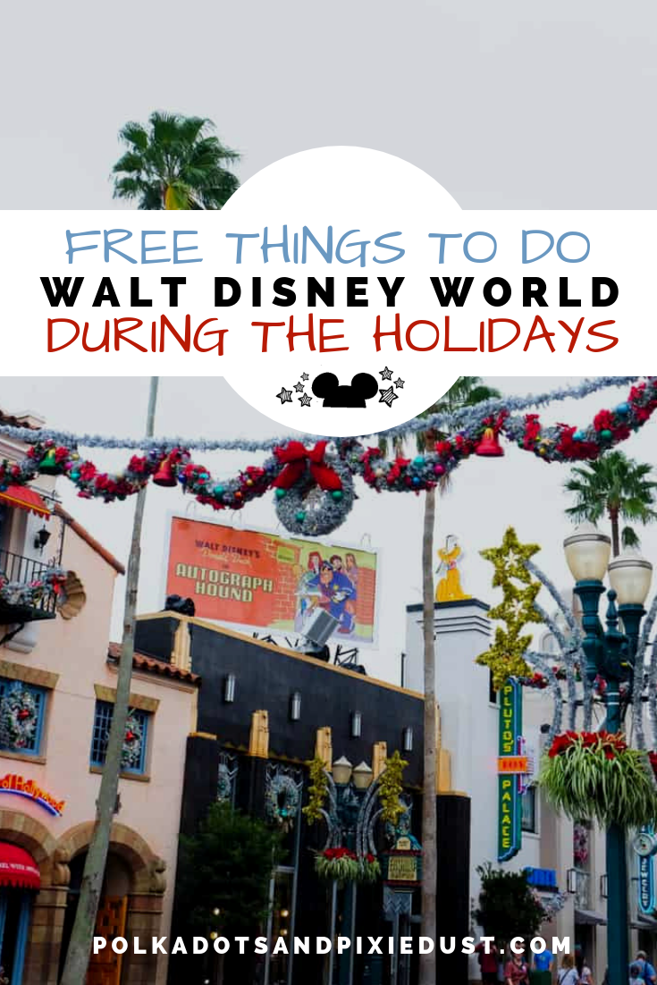 All the Fun, Festive and Free Things to Do at Walt Disney World during the holiday season! #christmasatdisney #disneyvacation #polkadotpixies