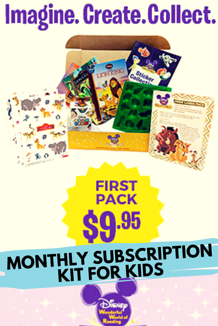 Disney Premier Pack Monthly Subscription Pack for Kids. Featuring Hardcover Books, Stickers, Activities and a collectible tsum tsum figurine. This monthly kit is perfect to help your child learn, increase literacy, creativity, and more. #disney #giftsforkids