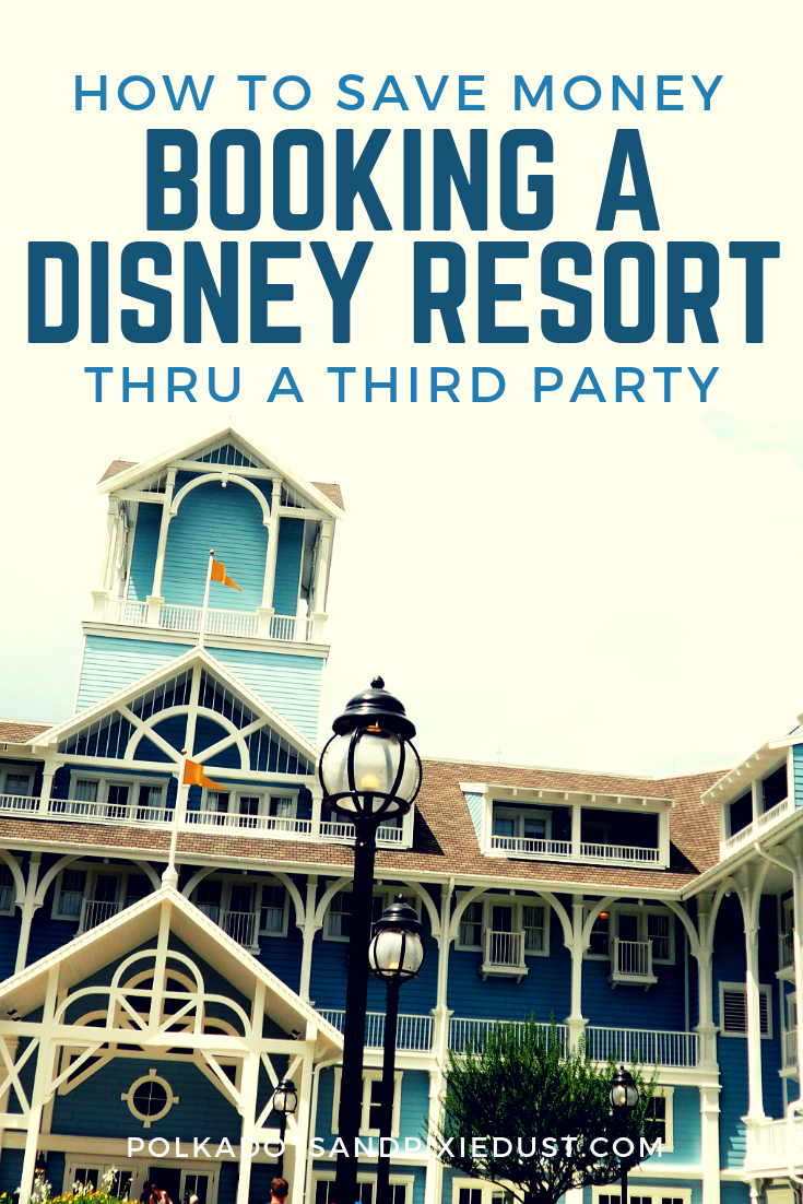 Booking your Disney Resort through a third party can often get you all the same perks as booking straight with Disney, save you money and get you access to rooms during busy times when Disney is sold out! See the tips and tricks, pros and cons of booking through a third part for your next Disney vacation! #polkadotpixies #disneyresorts #disneyonabudget