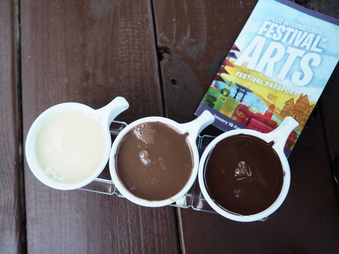 sipping chocolate at festival of the arts epcot