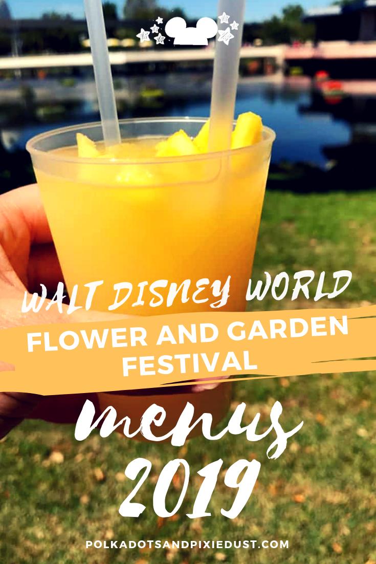 disney flower and garden festival 2019 menus #polkadotpixies #freshepcot