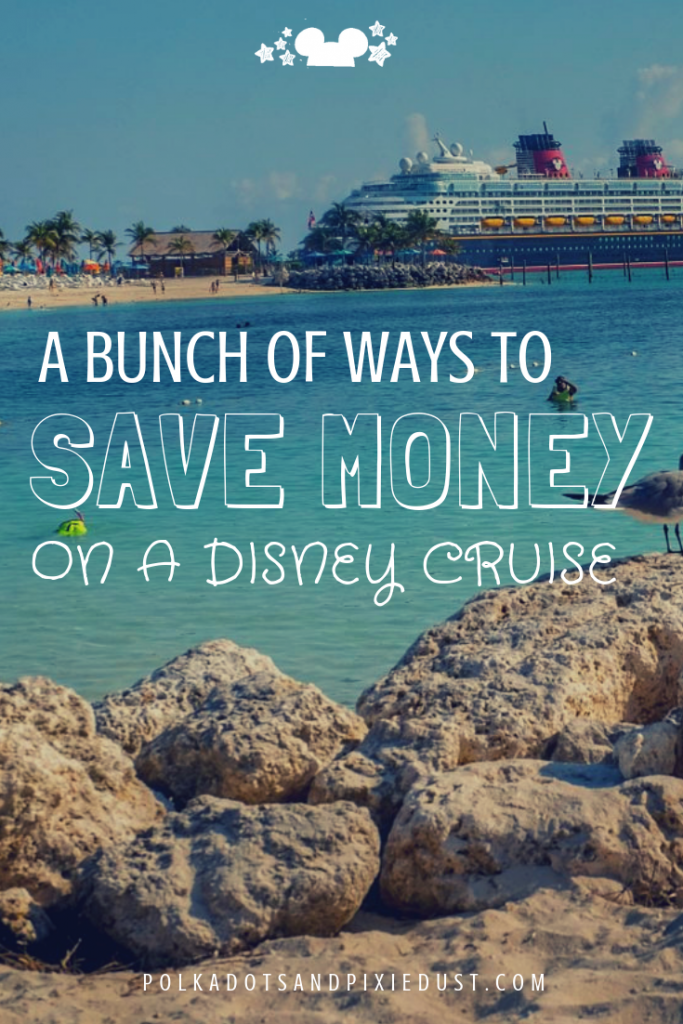 How to Save Money on a Disney Cruise Vacation. From discounted gift cards, to bringing your own drinks. Here's all our tips on how to save money on a Disney Cruise Vacation. #polkadotpixies #disneyvacations #disneycruise #budgettravel
