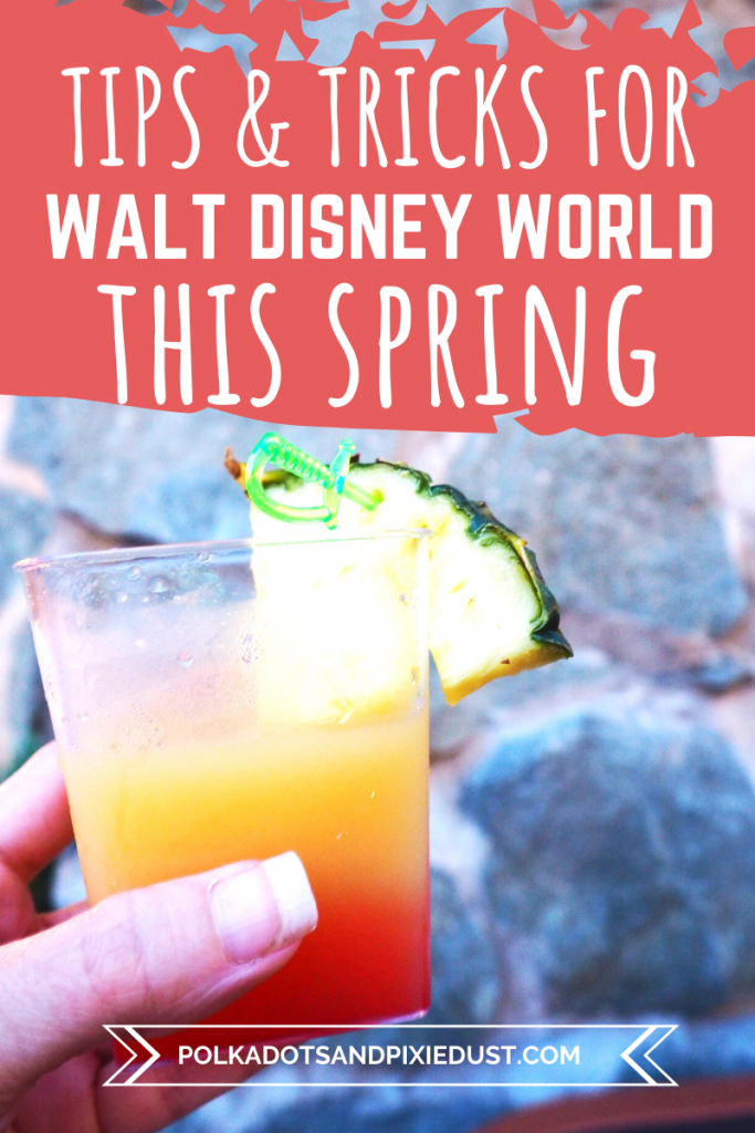 Walt Disney World Spring 2020 will see new rides, lots of crowds, Flower and Garden and more! Check out all our tips to tackle your Disney Vacation this Spring! #polkadotpixies #disneyspring #disney2020 #disneytips