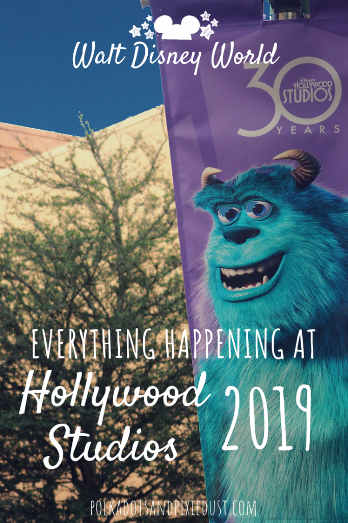 Everything happening at Hollywood Studios for the 30th Anniversary in 019. From new rides, to snacks to shows and events. Walt Disney World's Hollywood Studios is getting a facelift. Here's the list of everything happening in 2019. Post Updated Regularly. #disneyvacation #hollywoodstudios #disneytips #polkadotpixies