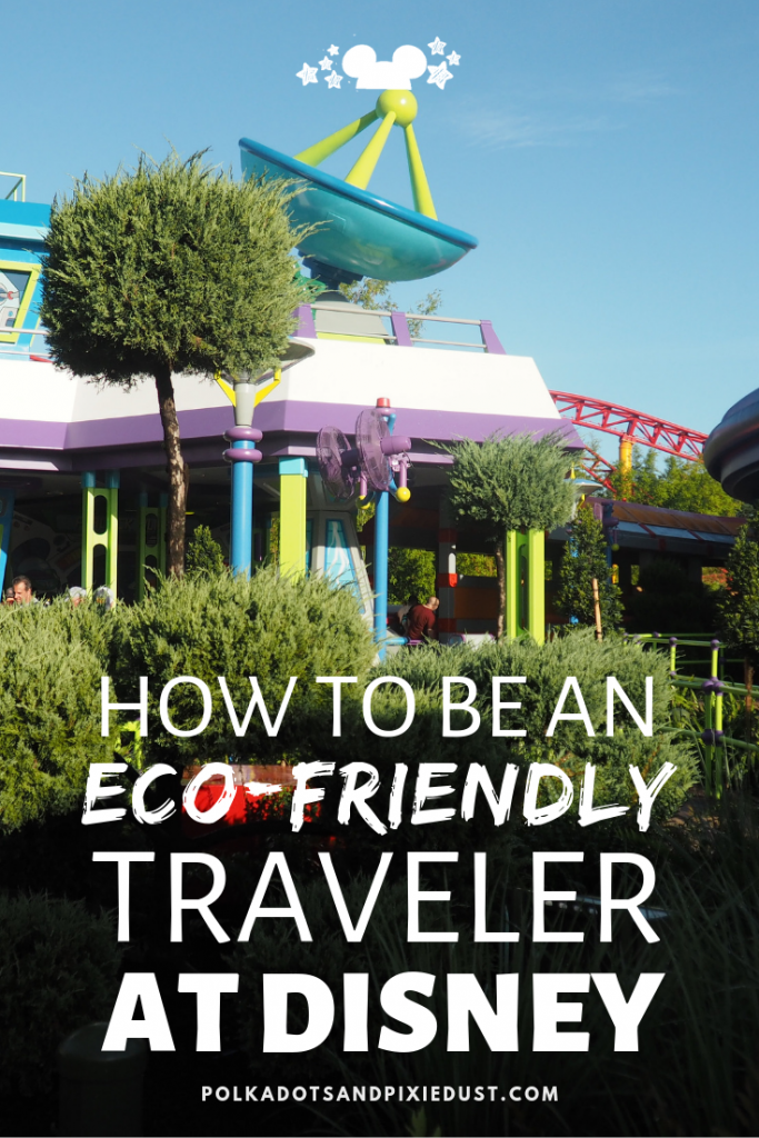 Are you an Eco Friendly Traveler when you go to Disney? Sure, you give up straws every now and then and turn down that plastic bag. But what else could you do? Here are a BUNCHY of things you can do to help save the planet while you are vacationing at Disney. #ecofriendlytravel #disneytravel #environmentaltravel #disneytips #polkadotpixies