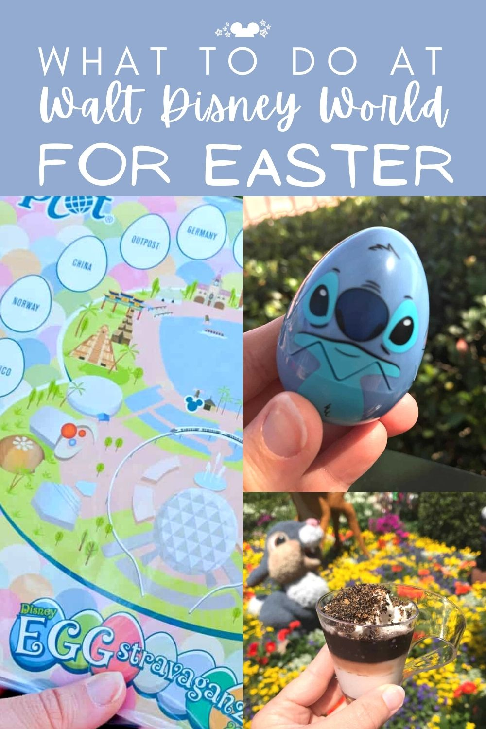 Easter at Walt Disney World is all abotu springtime, new Snacks, fun games, and beautifully decorated eggs across resorts! Check out everything to do at Disney World this Easter. #polkadotpixies #disneyeaster #disneyfamily