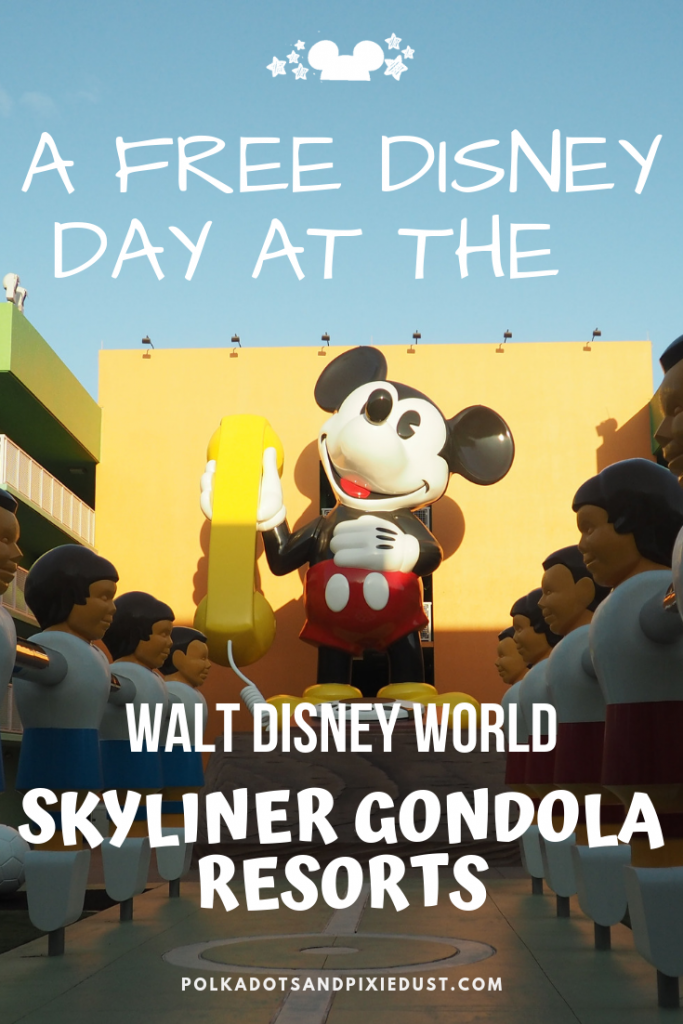 The Disney Resorts connected by the Disney Skyliner system offer awesome gift shops, grounds and restaurants you just have to see! And no you can do it without a park ticket! Check out all the resorts on the gondola line and get your plan ready! Here's all the things you can do. #disneyskyliner #polkadotpixies #disneytips #disneygondola