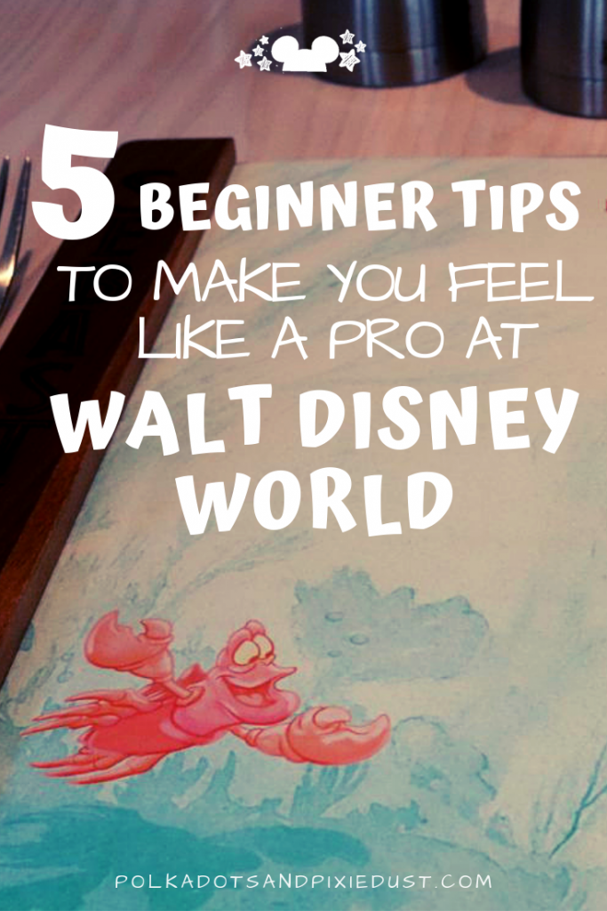 If you want your next disney vacation to be close to perfect, follow these 5 Disney Pro Tips for Beginners. It's easier than you think to be in the Know at Walt Disney World. Here's the 5 beginner tips for disney newbies you MUST know! #polkadotpixies #waltdisneyworld #disneytips #disneypro