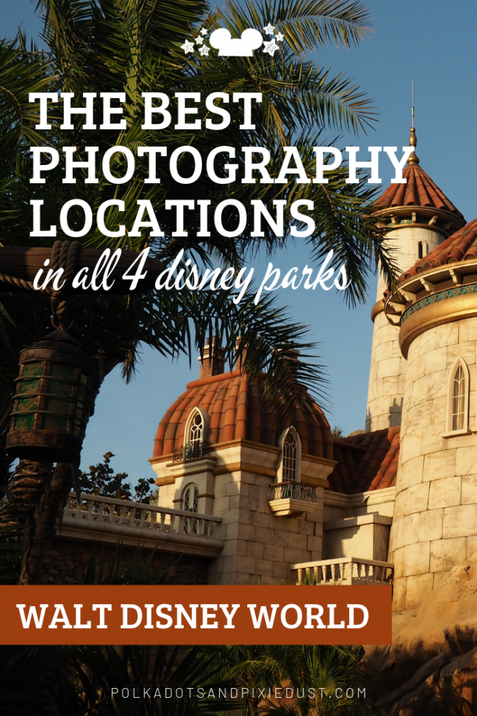 Need a list of where to get the pictures when you're at Walt Disney World? Here are the park icons and best photo backdrops in all four Disney Parks. #disneyphotography #disneypictures #disneytips #polkadotpixies