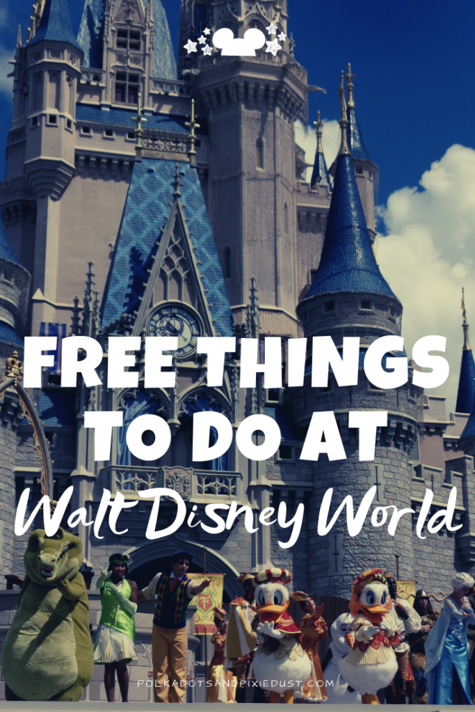 All the free things to do at Walt Disney World. From watching a show, to riding the monorail, to playing free games and taking art classes. Disney has more free things than you knew existed! Read the post to find out more so you can stay on track with your Disney Vacation Budget. #polkadotpixies #disneytips #disneyfreebies #disneyvacation