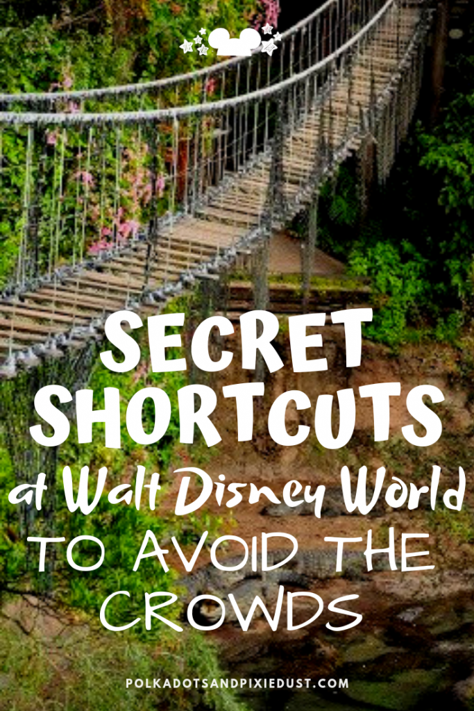 Secret Shortcuts across Walt Disney World to help you Avoid the Crowds, Beat the Heat, and Get to where you Need To Be Fast! #disneyworld #polkadotpixies #disneysecrets