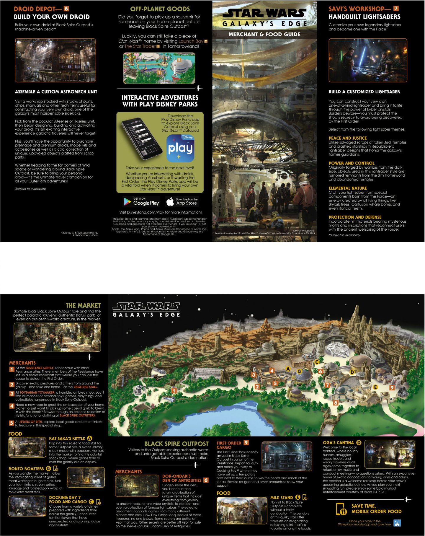 Disneyland's Star Wars Galaxy's Edge Map, Reservations and ... on disneyland minecraft download, disney world map download, disneyland california,