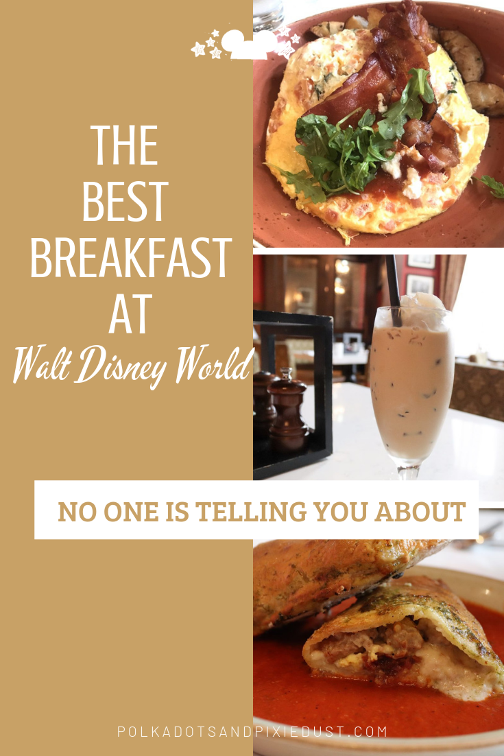 Looking for the Best Breakfast at Walt Disney World no one is telling you about? Get ready for an extravagant meal at budget prices at one of our favorite parts of Walt Disney World! #disneybreakfast #disneysecrets #disneytips #disneyfood #disneyrestaurants #polkadotpixies