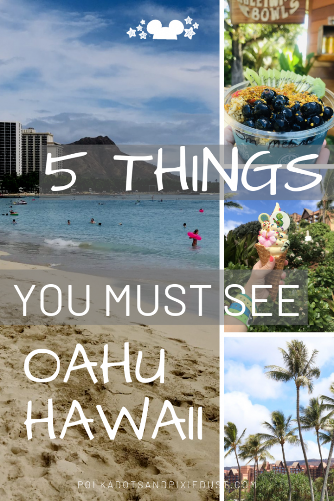 5 MUST-DO things on Oahu, Hawaii for a day trip while staying at Disney's Aulani Resort. #hawaiitravel #disneyaulani #oahu #travel