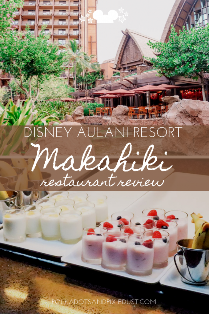 Disney dining at Disney Aulani Resort in Hawaii has character dining with the best of them! Get ready to see Mickey and Friends in their Hawaiian best! Makahiki Restaurant Review #disneyaulani #disneyrestaurants #polkadotpixies #disneytips #disneycharacterdining