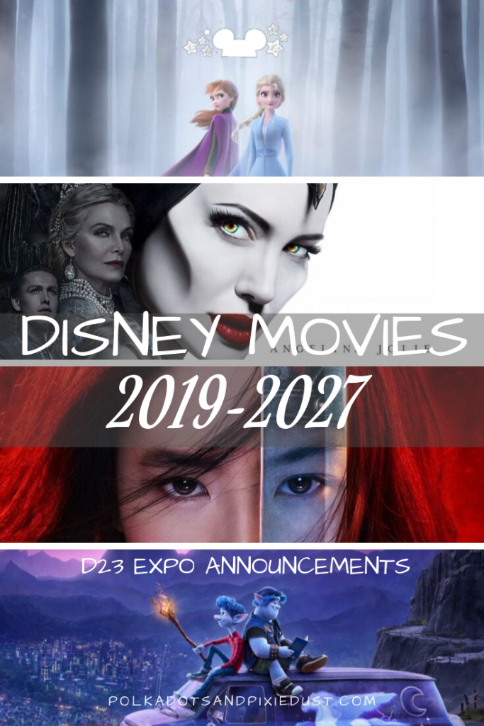All the Disney Movie News from the d23 Expo including Disney+ content, new Marvel, Disney, Star Wars, Pixar and Avatar! #polkadotpixies #d23 #disneymovies #disneynews