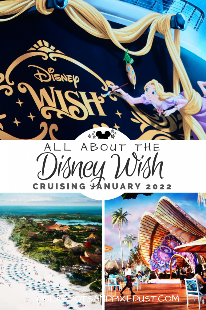 The Disney Cruise Line has announced that the Disney Wish will be sailing starting January 2022. With a new video and a destination planned, here's everything we know so far in this Disney Cruise Quick Guide. #disneycruise #disneywish #polkadotpixies