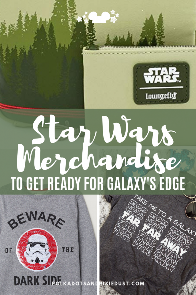 Get ready for Star Wars Galaxy's Edge with all our favorite NEW Star Wars Merchandise! Here's a round up of favorites you can find from H&M, Loungefly, Asos and more! #disneymerchandise #disneystyle #disneyshopping #disneygalaxysedge #starwars