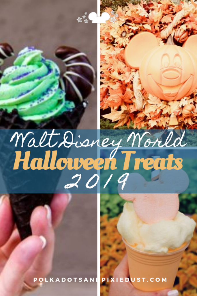 Halloween Treats at Walt Disney World for 2019 have ARRIVED! Everything you can find at Disney Parks and the Mickey's Not So Scary Halloween Party! Updated regularly! #polkadotpixies #disneyhalloween #halloweenatdisney #disneysnacks