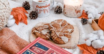 Mickey Pumpkin Spice Scones- Disney at Home Fall Edition