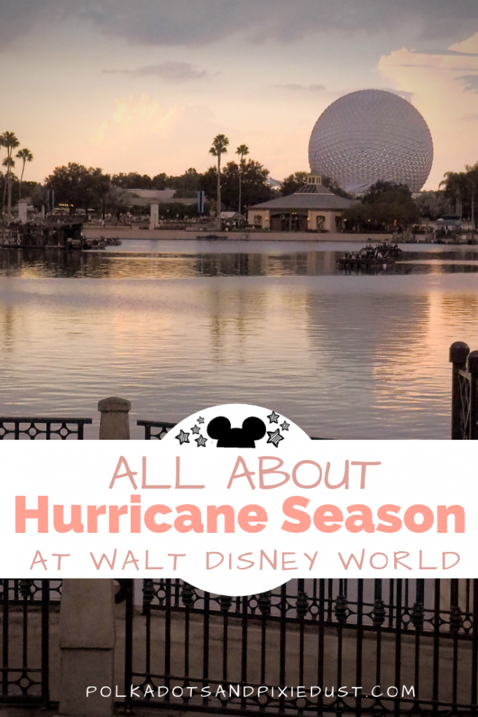 All about Hurricanes at Walt Disney World. Some important links, pages and how to stay up to date. Plus what to expect if you're staying at Disney during the storm! #polkadotpixies #disneyworld #floridahurricanes
