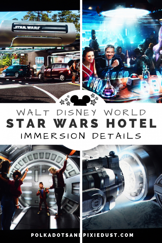 Star Wars Hotel at Disney details, costs, and a few worries! Digital space windows, and a 3 day 2 night immersion experience that may be more stressful than relaxing. Here's everything we know about the Galactic Starcruiser Hotel #starwars #disneyresort #polkadotpixies #disney2021