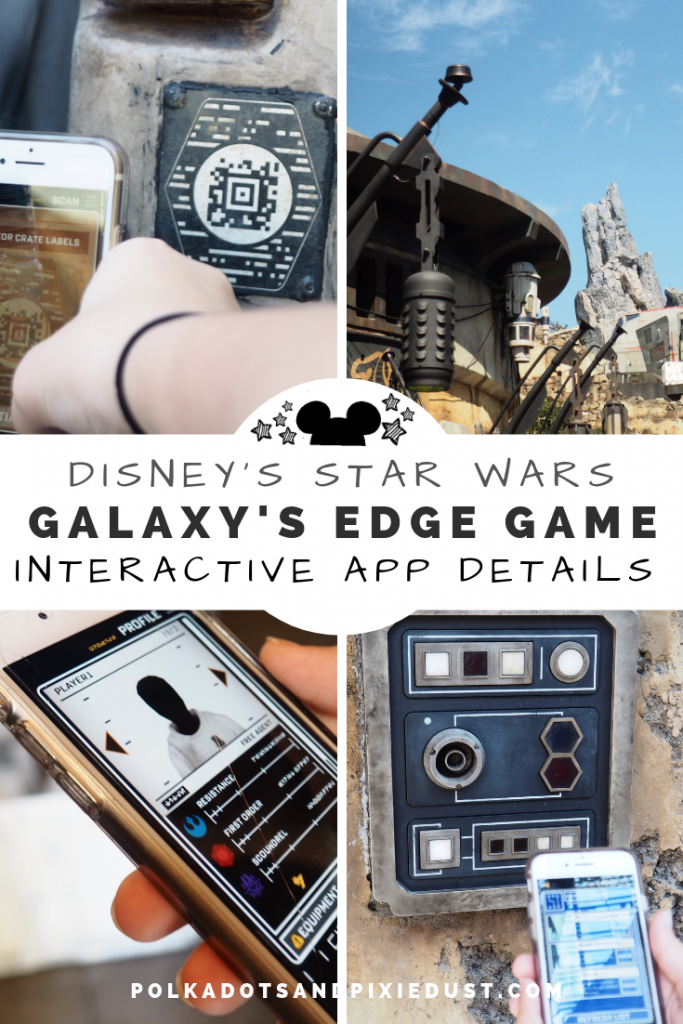 Galaxy's Edge Interactive Star Wars Game at Disney Parks features hacks, scans, and ways to make the new land more interactive at both disneyland and Walt Disney World. Here's how to play, tips and tricks. #starwars #galaxyedge #disneygames #disneyland #waltdisneyworld