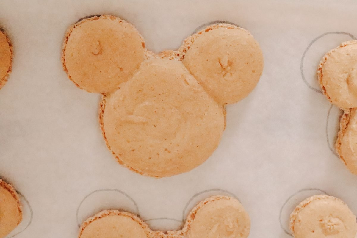 Pumpkin Spice Mickey Macarons