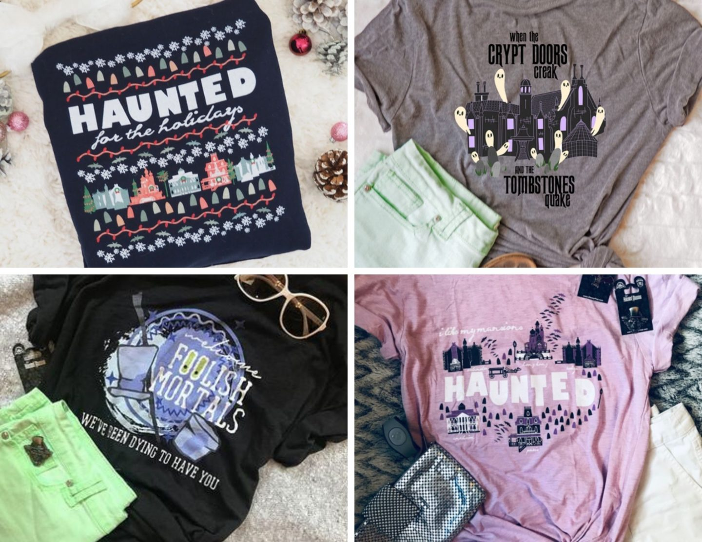Haunted Mansion Shirt Haunted for the Holidays