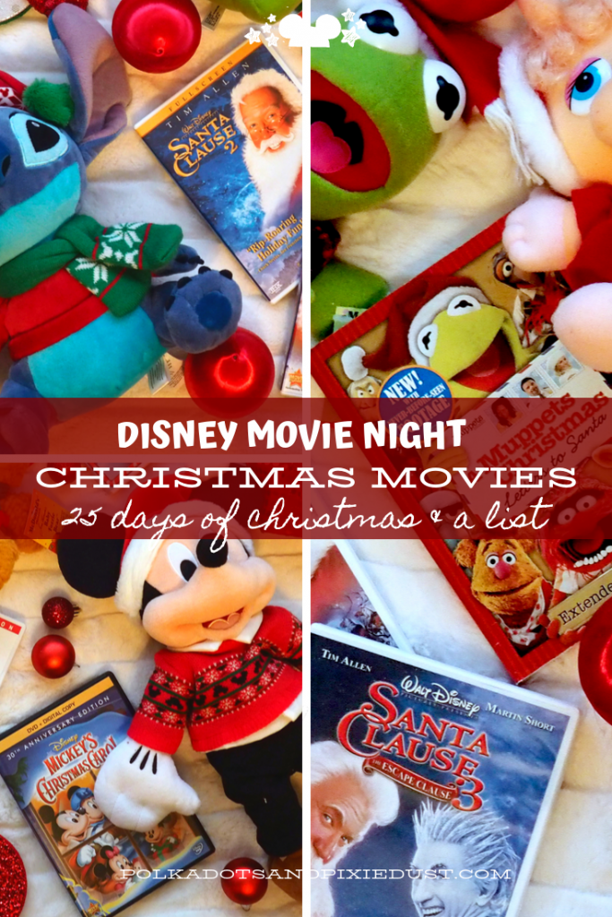 Disney Christmas Movies for all your family holiday events! Plus all the new Disney+ Holiday flicks, and where to find all your favorite 25 days till Christmas movies! #25daystillchristmas #disneychristmasmovies #holidaymovies #polkadotpixies