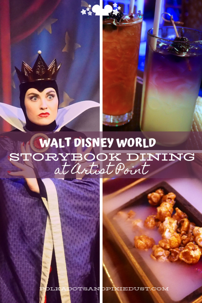 Storybook Dining at Artist Point Walt Disney World. Does this newer Disney Character Dining experience live up to the HYPE? With Hard-To-Get Reservations, an eclectic woodlood menu and a price tag, see what we thought and ate! #storybookdining #disneyrestaurants #polkadotpixies