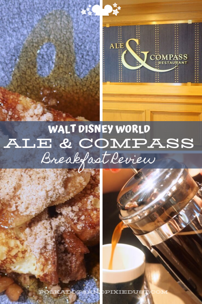 Ale and Compass Breakfast on the Disney Boardwalk at the Yacht club involves fancy french toast, protein bowls, mimosas, and more! All budget friendly! Here's what we loved for Breakfast at Ale and Compass. #disneyboardwalk #aleandcompass #disneyyachtclub #polkadotpixies