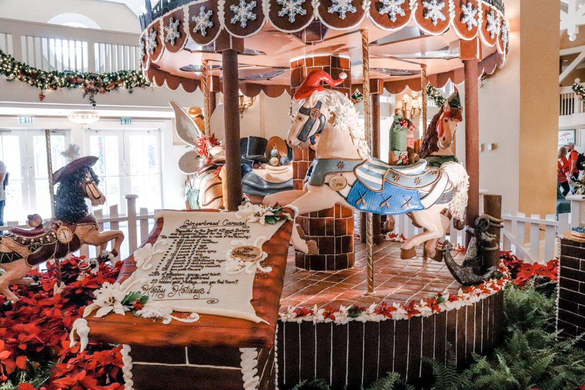 Holiday Gingerbread display at The Beach Club