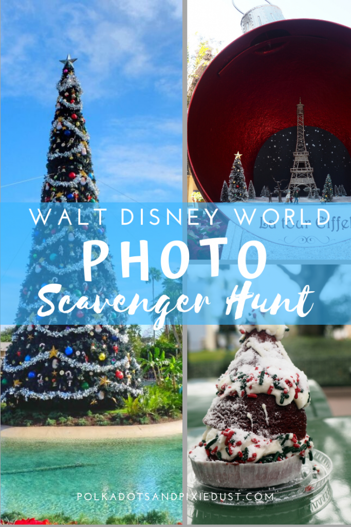 A Disney Christmas Scavenger Hunt! Here's your Walt Disney World Photo Scavenger Hunt Challenge! Find all our favorite Holiday Photos on your next trip to Walt Disney world.