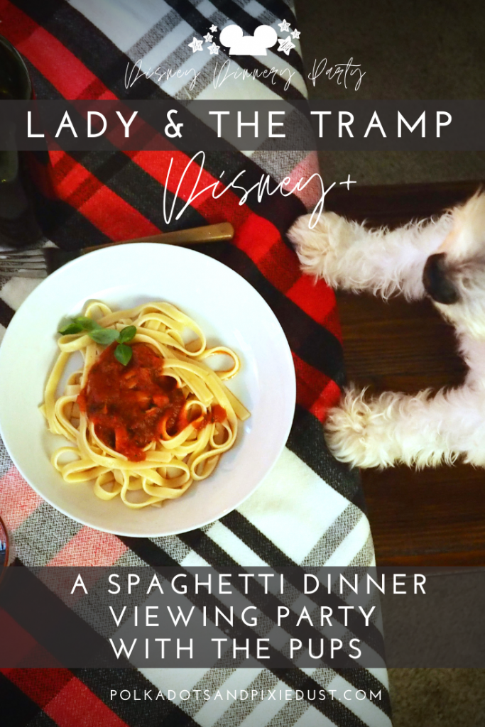 Disney+ Lady and the Tramp on Disney Plus. We're making Spaghetti and Focaccia Bread to go with our Italian Dinner with the dogs! Check out our tony's Restaurant decorations, and the cozy new beds and treats for the dogs! #polkadotpixies #doggifts #disneyrecipes #disneyparty #disneyplus #ladyandthetramp