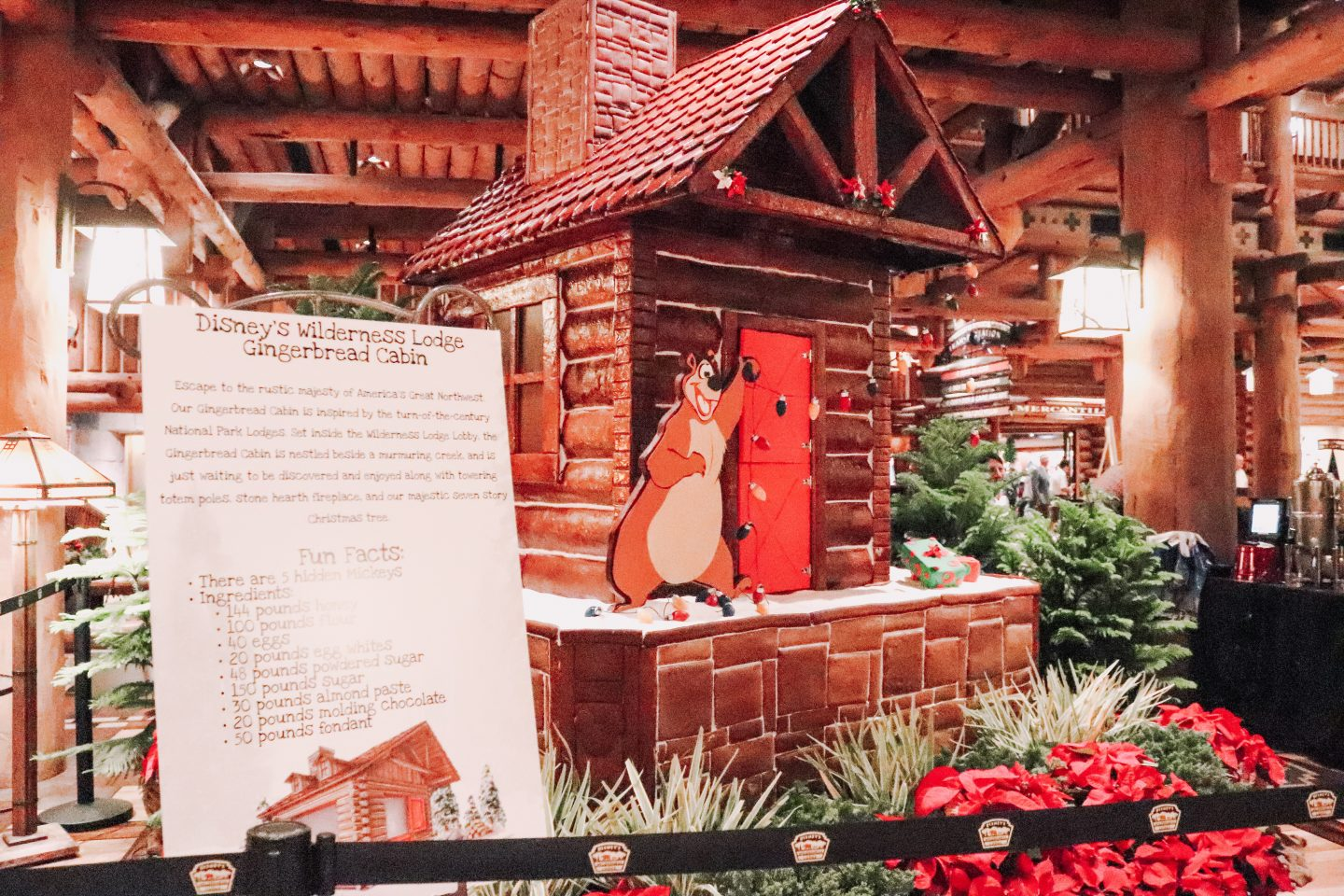 Walt Disney World Gingerbread display