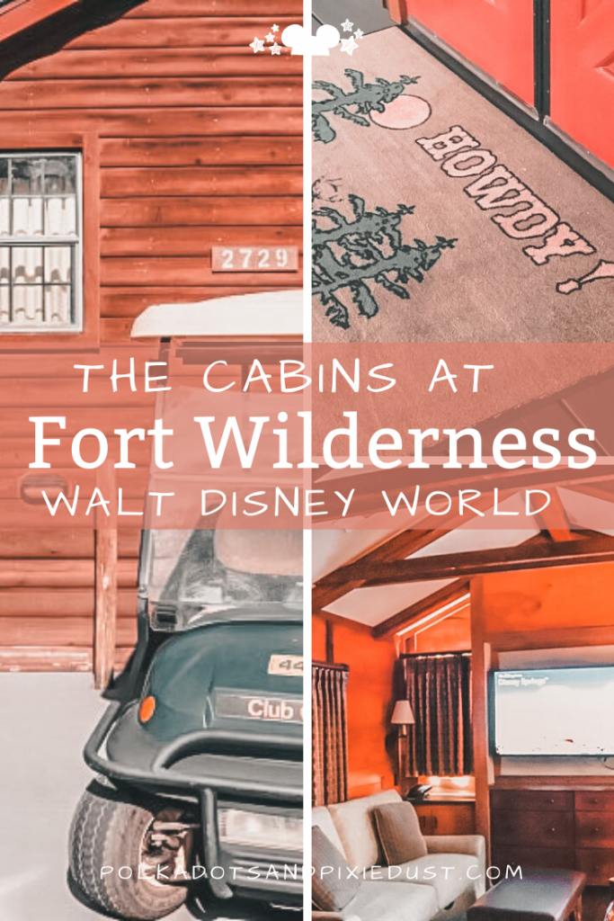 Fort Wilderness at Walt Disney World has campsites, RV sites and Cabins! Here's our review of the Cabins at Fort Wilderness, complete with Golf Cart, Rustic Decor and everything you need for a throwback to the wild west. #disneyfortwilderness #disneyresorts #fortwilderness