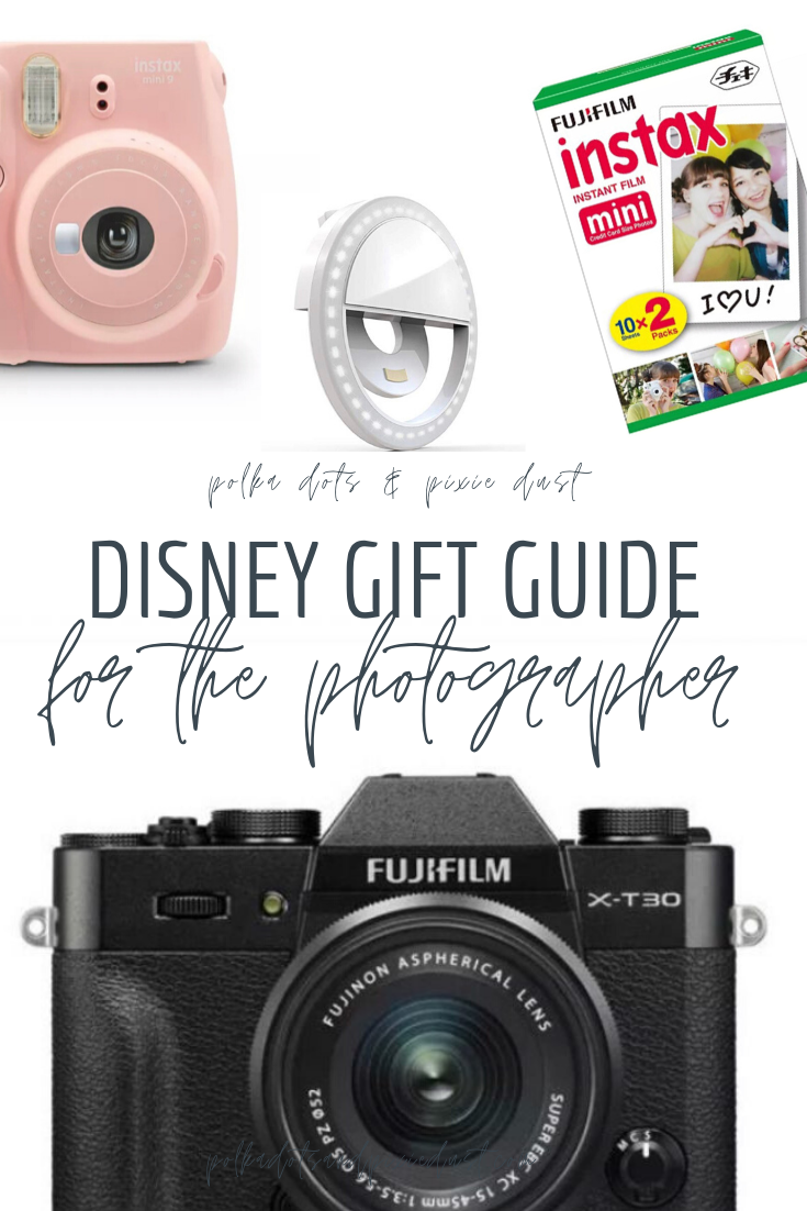 Disney Photography doesn't have to be hard when you have the right tools! Here's all our favorite Gifts for Photographers and Instagram Lovers Alike! Whether you're looking for a cute iphone add-on or a full fledged professional camera, here's our list of gift ideas! #disneyphotography #disneygifts #photographygifts #giftsforphotographers #giftsfortravelers