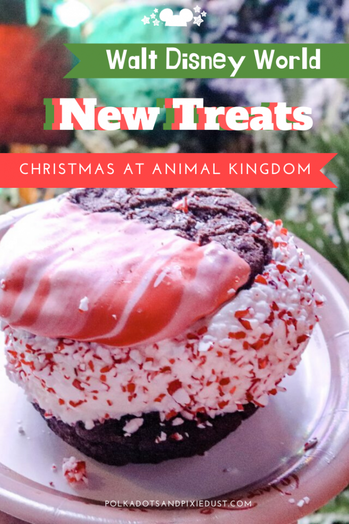 New Treats and Snacks at Animal Kingdom, just in time for the holiday season! Heading to Animal Kingdom for the holidays has never been sweeter, more pepperminty or festive! Check out all the new snacks at disney. #disneysnacks #animalkingdom #disneytreats #disneychristmas