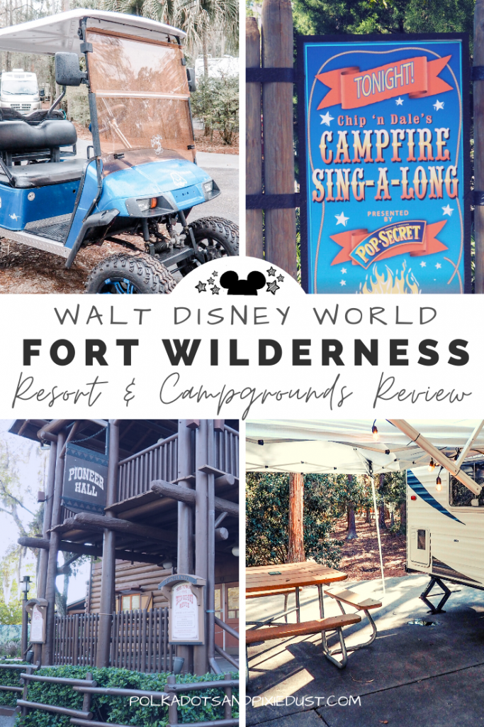 Fort Wilderness Resort and Campgrounds at Walt Disney World offers camping, RV stays and cabins. If you're looking to sprawl out in nature on your next Disney Vacation, get ready for this nature vacation and a little re-wilding, complete with campfires and activities. #fortwilderness #disneyresorts #disneyonabudget #disneyvacation