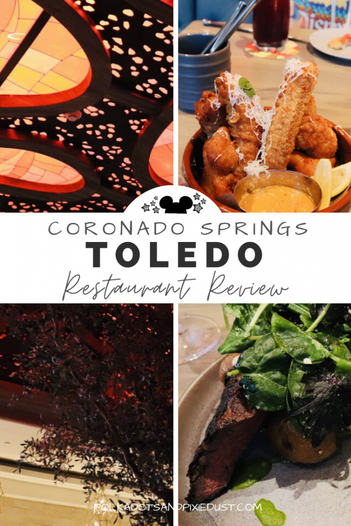 Toledo at the Walt Disney World Coronado Springs Resorts invites beautiful tapas, spanish cuisine, exquisite desserts and rooftop dining. Check out all the best foods on the menu and the amazing atmosphere at this new Disney Restaurant