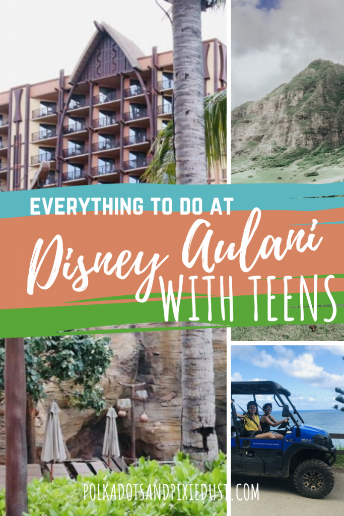 Ready for a trip to Disney Aulani with teens? From Road Trips, to Pool time and Ukulele lessons, there is so much to do with your tween and teen. Whether your taking a mom and me trip to the island or hosting the whole family. Here's our favorite Disney Aulani things to do with teens.